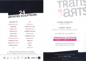 invit sculpture Trans'Arts verso