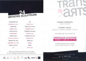 invit sculpture Trans'Arts verso