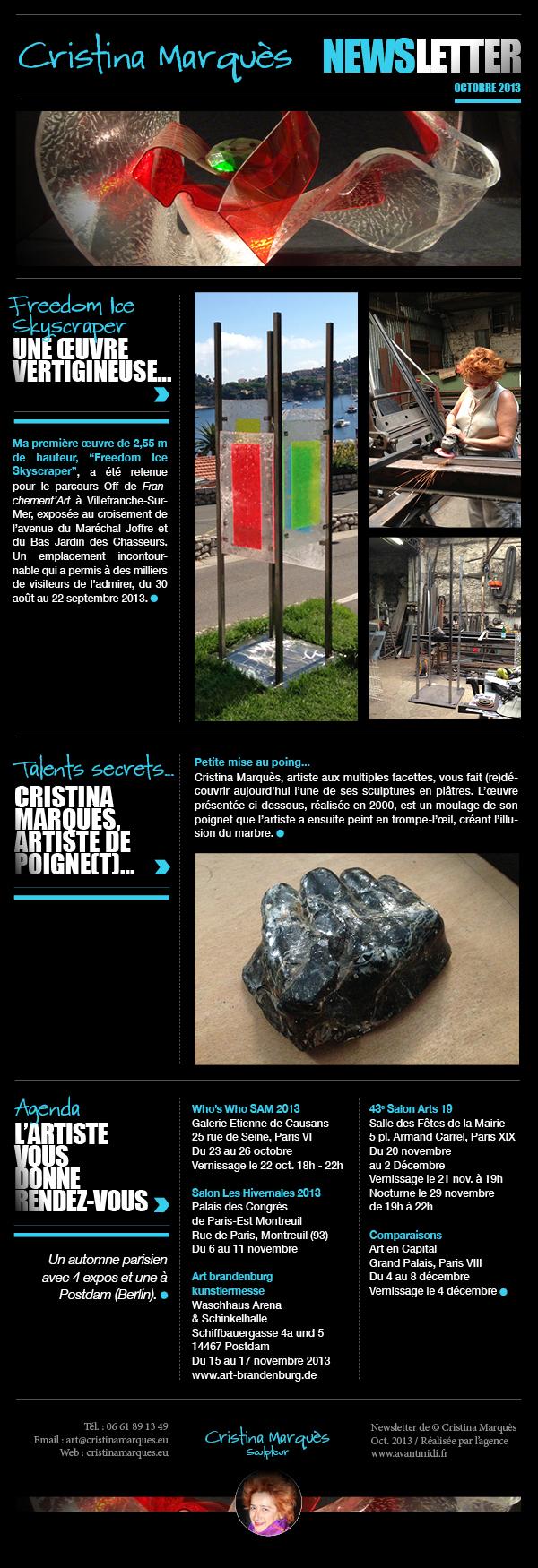 Newsletter 10 2013 Cristina Marquès
