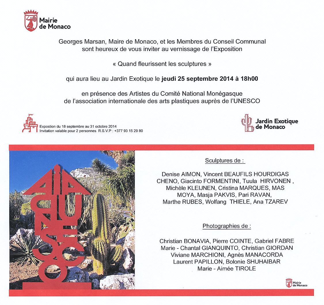 Invitation Jardin Exotique